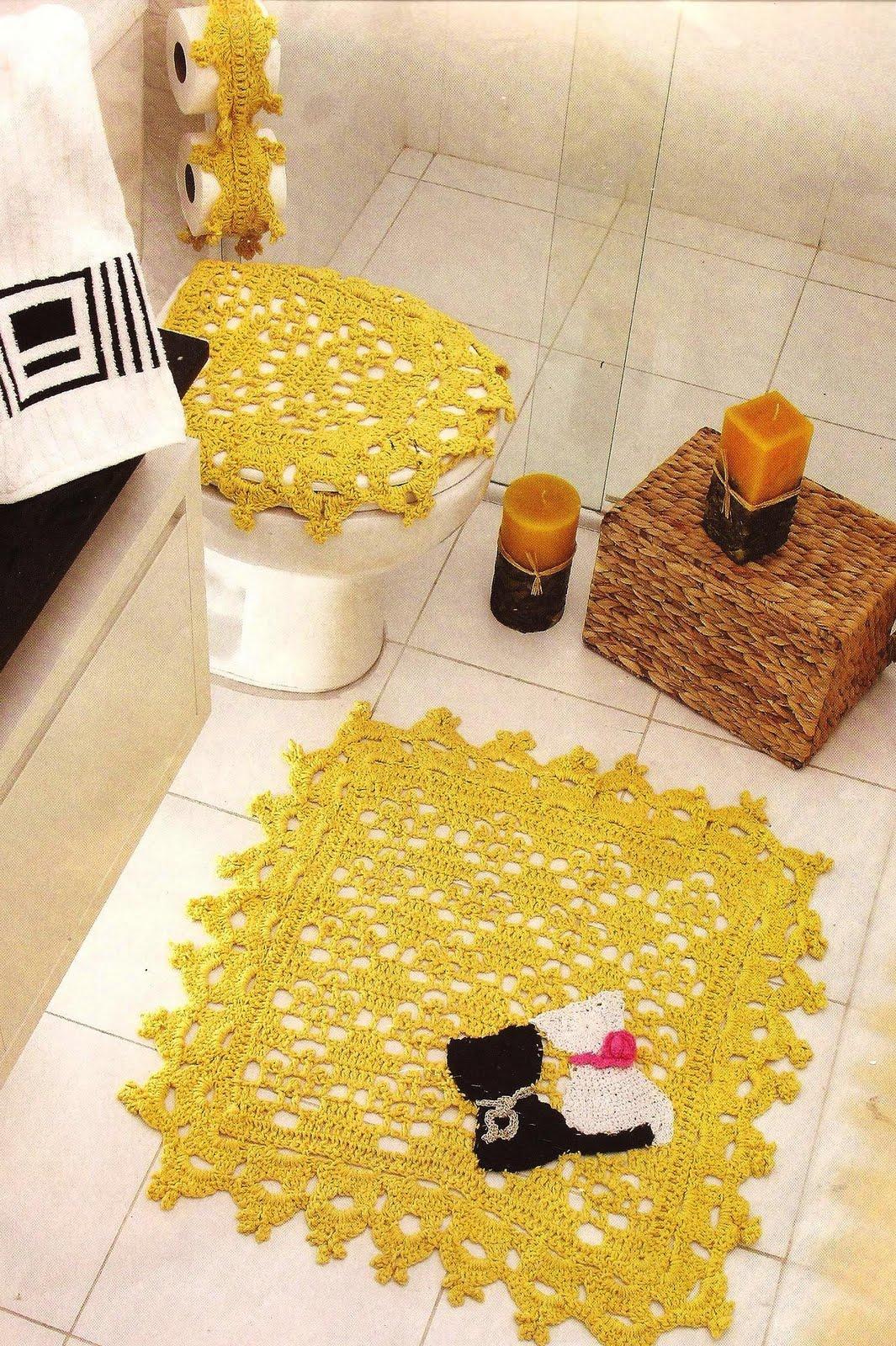 Barbantes São Francisco: Tons vibrantes Kit para banheiro Amarelo #AE8F1D 1065 1600