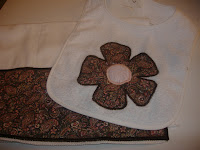 pink and brown baby bib burpcloth set