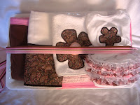 custom pink chocolate brown handmade baby items