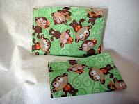 girl monkey reusable snack bag