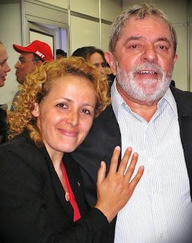Margarete e Presidente Lula