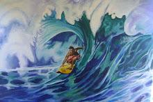 Mural  Kely entubado! para YOMIS tablas de Surf