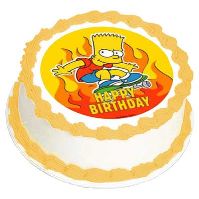 Happy Birthday Skaukatt! Simpsons-party-Bart-edible-birthday-cake-icing-image