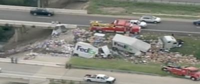Fedex ground truck accident
