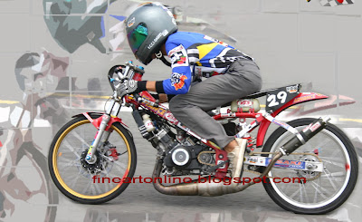 DRAG MOTORBIKE HIGH SPEED