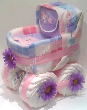 Unique diaper cakes baby shower gifts centerpieces for Baby shower diaper decoration
