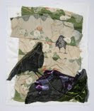 Edge of Darkness, Various Fabrics & Thread, 2009, $130