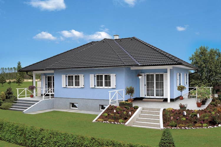 haus in griechenland german fertighaus und blockhaus in. Black Bedroom Furniture Sets. Home Design Ideas