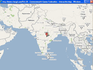 CGF website shows incorrect map of India