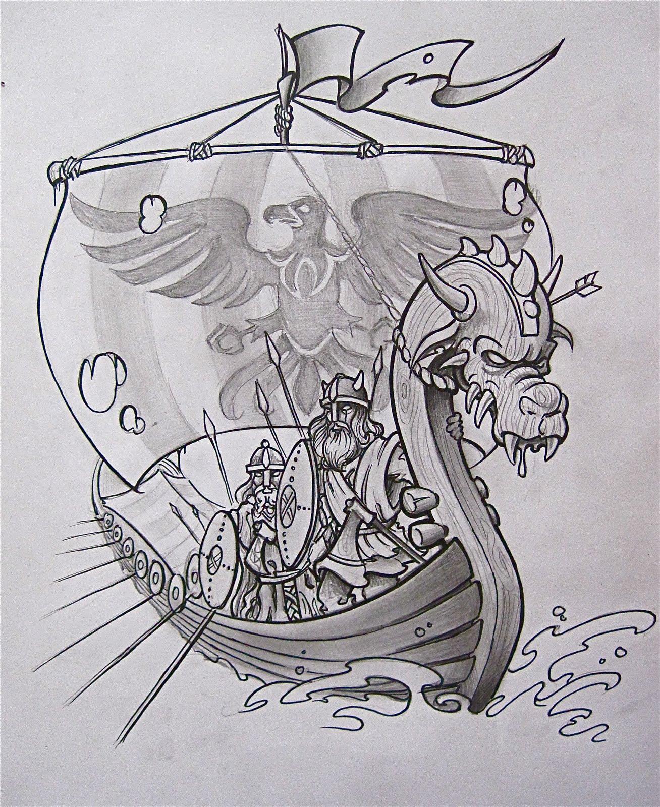 Викинги рисунки для тату 5