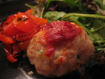 Jolene Eats Here: Baked Chicken Meatballs With Peperonata