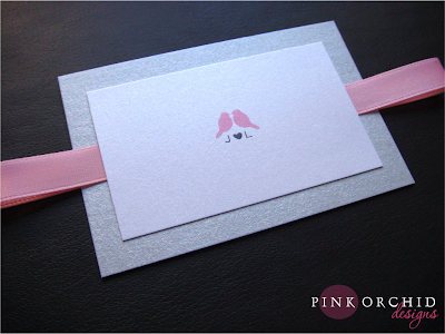 Love Birds Wedding Invitations on Pink Orchid Weddings  Love Bird Wedding Pocketfold Invitations
