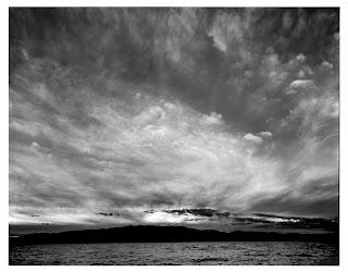 Sunset at Utah Lake - Brandon Allen - Large Format Black and White