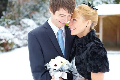 A winter wedding photograph