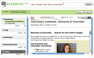 Evernote online