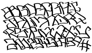 Graffiti Alphabet Letter Fonts A-Z Alpha Black Style