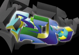 Cool React 3D Digital  Graffiti Alphabet Bubble