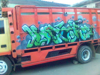 Graffiti Alphabet Tagging in Truck