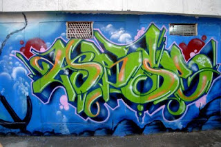 Wildstyle Graffiti Alphabet Green Color Design