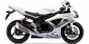 Motorcycles 2009 Suzuki GSX-R 750 White Sport Full Fairing