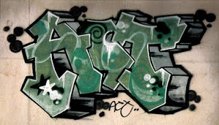 ACT Stack Graffiti Alphabet Letter Green Fonts Color