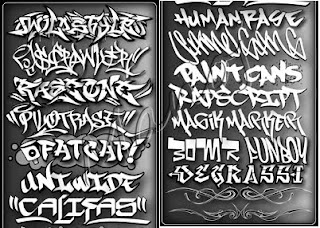 Kinds of Grafitif all fonts