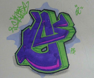 Graffiti Alphabet Sketches Letter O