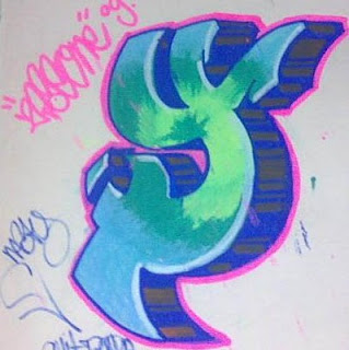 Graffiti Alphabet Sketches Letter Y