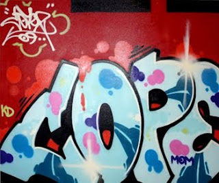 Graffiti Bubble Letter Cope Design on Wall