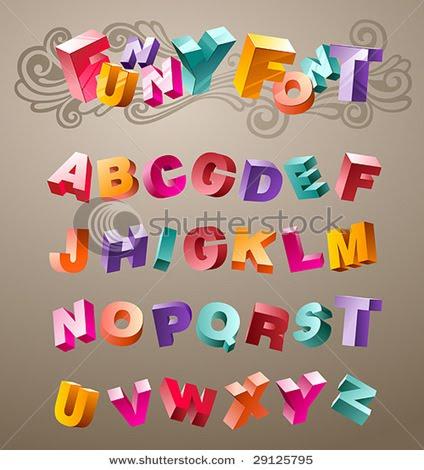 3D Font Design Graffiti Alphabet