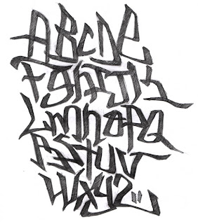 Graffiti Alphabet Letters Intricate on chicago style paper