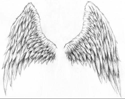 Angle Wings Tattoo Design Sketches 5