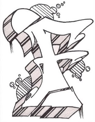 letter r graffiti style. letter r in graffiti