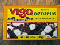 Canned octopus