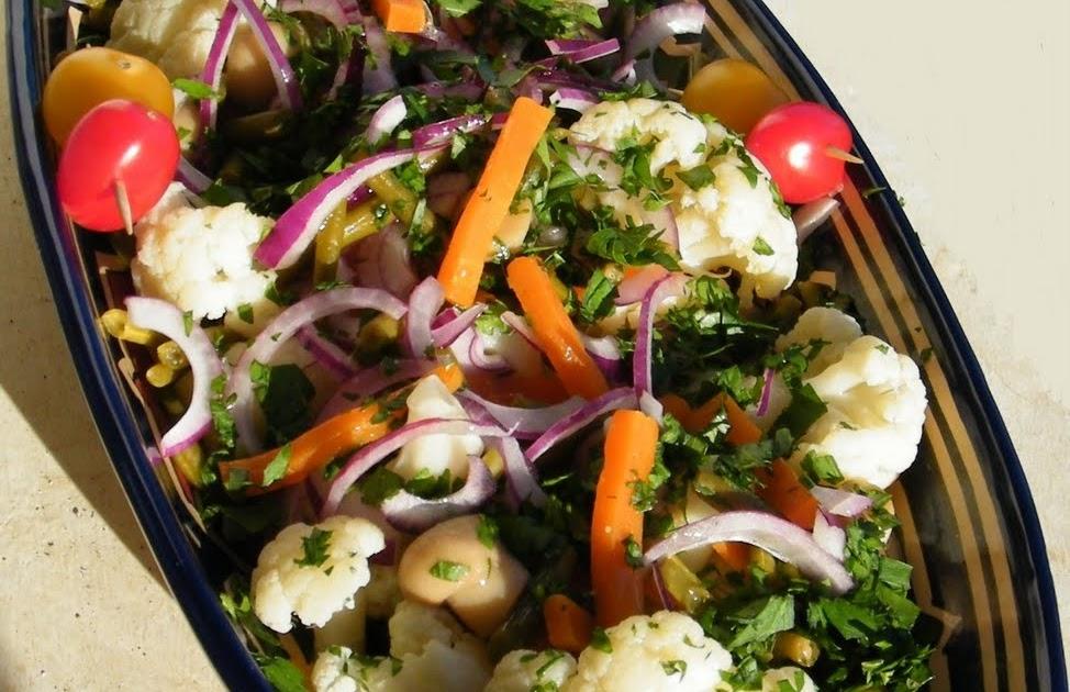 Cuisine et Campagne de France : Salade aux bouquets de chou-fleur
