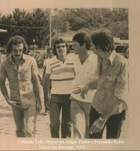 Orlando Lelé e Mazaropi em Brusque. 23 mar 1978.