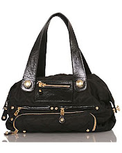 Black Classic Bag with Leather