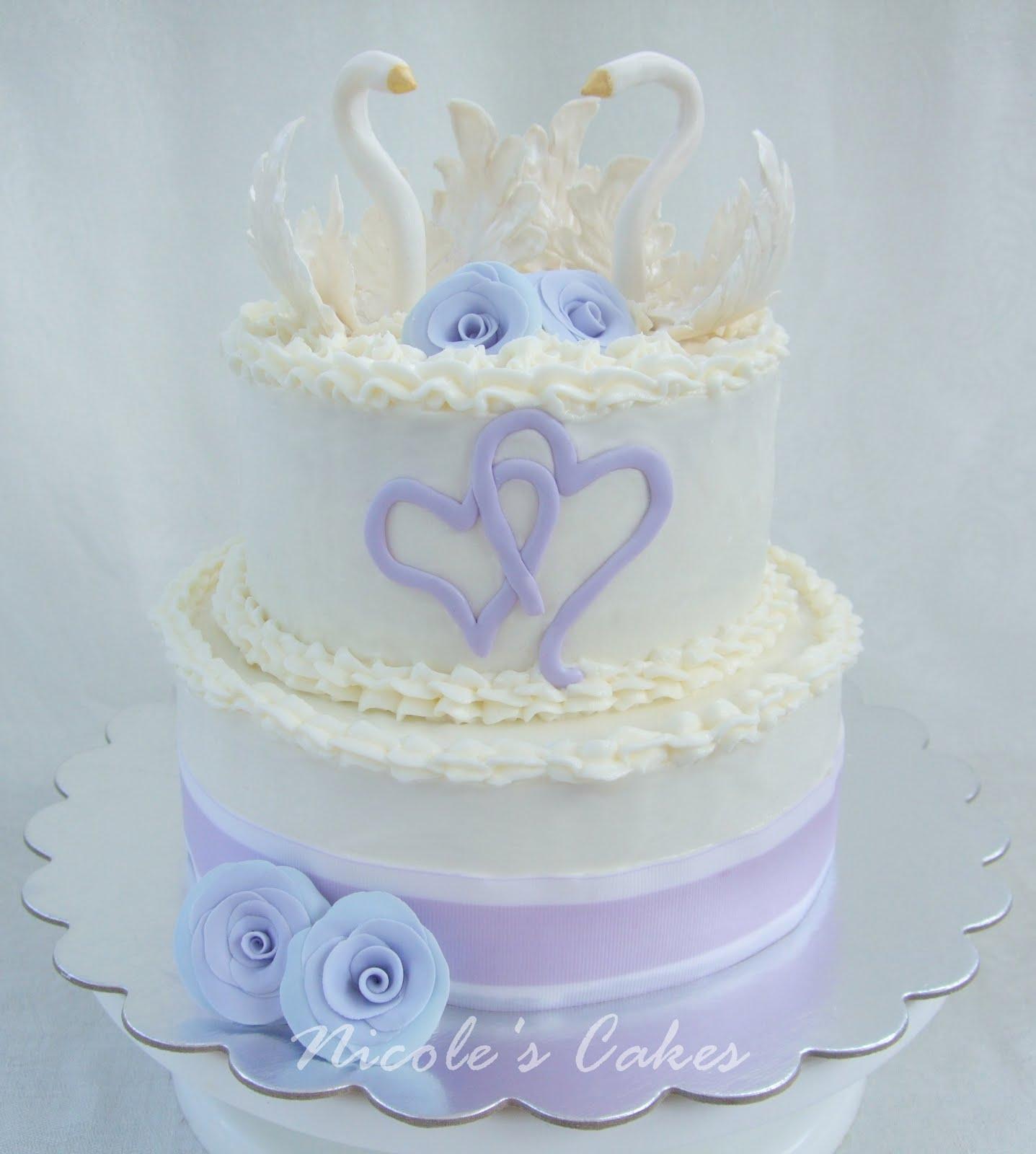 On Birthday Cakes Elegant White Swan Cake