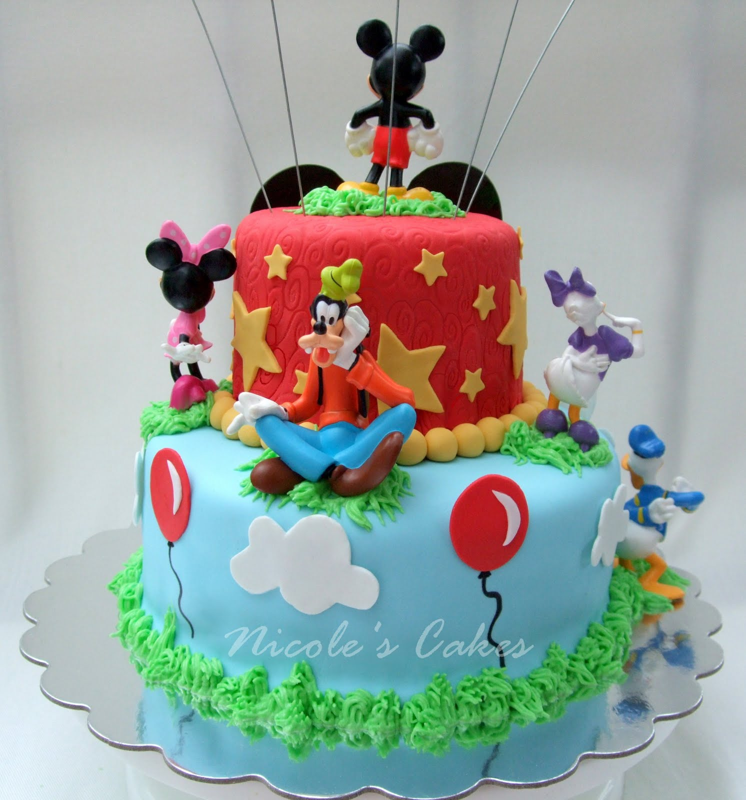 Mickey Mouse Clubhouse Cake Mickey mouse cake Mouse cake and