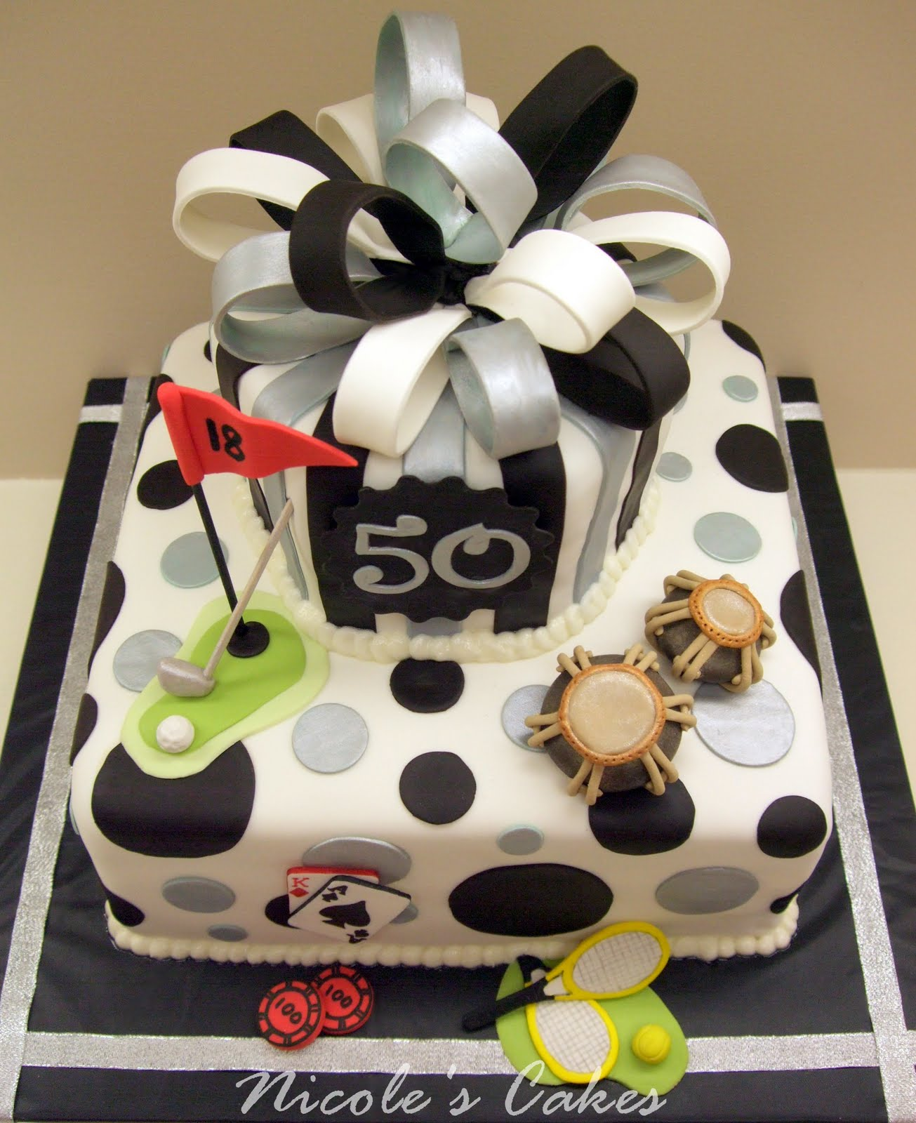 On Birthday Cakes:  Favorite Things  : A 50th Birthday Cake