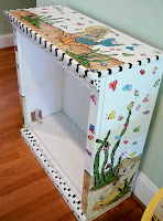 Hand Painted Mermaid Book ShelfThe Finished PieceReady For Auction
