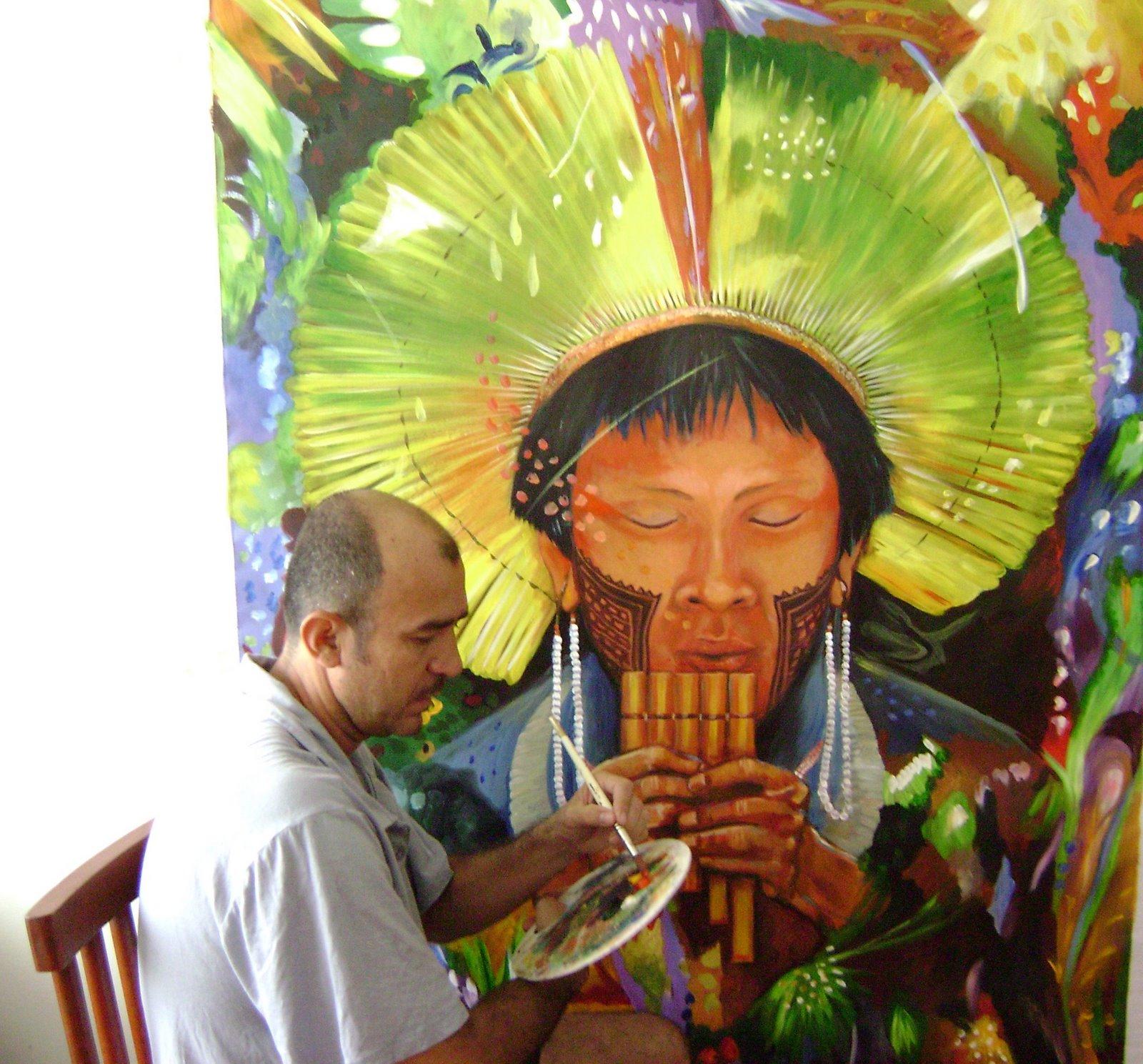 Ikarus gallery cultural program conozcamos la obra de for Pintor y muralista colombiano
