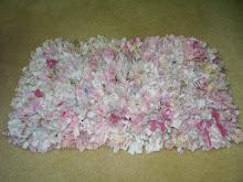 Shabby Pink Rag Rug