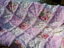 Pink Eye Candy Rag Quilt