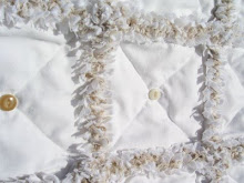 Shabby White Cottage Rag Quilt