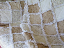 Beautiful Cararmel Rag Quilt