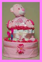 G-Two Tier Diaper Cakes for Baby Girl