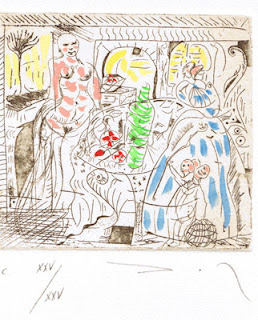 'Sin titulo', 1982, aguafuerte de Carlos L. Nogueria Ribera