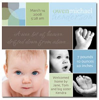 Imag-inations photo birth announcement card