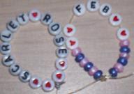 hand-made beaded baby memory bracelet